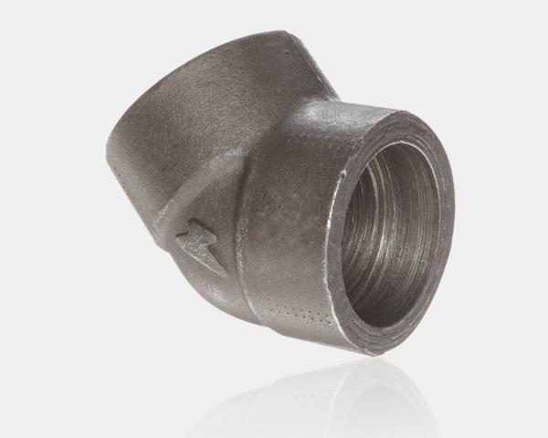 304L螺纹90°弯头 高压锻制螺纹管件